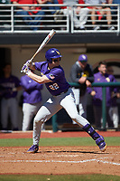 Brock Mathis (22) of the LSU Tigers at bat against the Georgia Bulldogs at Foley Field on March 23, 2019 in Athens, Georgia. The Bulldogs defeated the Tigers 2-0. (Brian Westerholt/Four Seam Images)