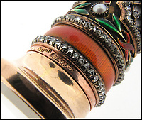 BNPS.co.uk (01202)558833Pic: Woolley&Wallis/BNPS<br /> <br /> All important Faberge mark.<br /> <br /> It never rains but it pours...<br /> <br /> Fabulous Faberge parasol handle sell for a whopping £75,000 - Over 10 times its estimate!