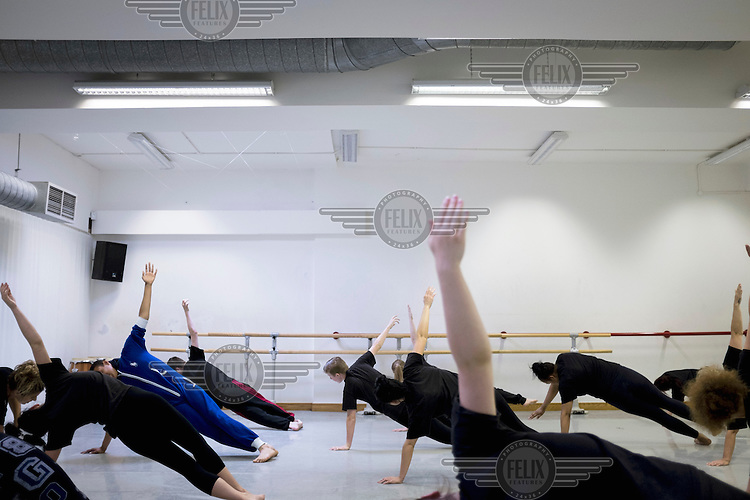 Dancers rehersing at the Leeds Dance United studios. The company works with marginalised young people, transforming lives through dance.
