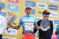 TUNJA - COLOMBIA, 15-02-2020: Simon Pellaud (SUI), ANDRONI GIOCATTOLI - SIDERMEC, el más combativo después de la quinta etapa del Tour Colombia 2.1 2020 con un recorrido de 180,5 km que se corrió entre Paipa, Boyacá, y Zipaquirá, Cundinamarca. / Simon Pellaud (SUI), ANDRONI GIOCATTOLI - SIDERMEC, the most combative after the fifth stage of 180,5 km as part of Tour Colombia 2.1 2020 that ran between Paipa, Boyaca, y Zipaquirá, Cundinamarca.  Photo: VizzorImage / Darlin Bejarano / Cont