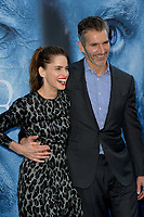 Actress Amanda Peet &amp; husband GoT creator/executive producer David Benioff at the season seven premiere for &quot;Game of Thrones&quot; at the Walt Disney Concert Hall, Los Angeles, USA 12 July  2017<br /> Picture: Paul Smith/Featureflash/SilverHub 0208 004 5359 sales@silverhubmedia.com