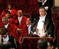 Armando  Rossi  parla durante la cerimonia di innagurazione anno giudiziario in Campania <br /> Salone dei Busti Castel Capuano Napoli