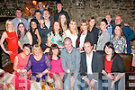 Tracy Walsh and Brian O'Shea, both Camp (seated centre) had a family gathering prior to their wedding on July 12th next in Finnigan's, Tralee last Saturday night.