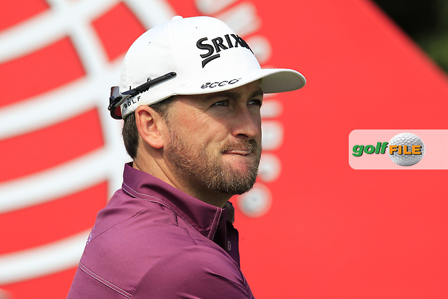 Graeme McDowell (NIR) during Wednesday's Pro-Am day of the 10th Anniversary WGC - HSBC Champions 2014 held at Sheshan International Golf Club, Shanghai, China. 5th November 2014.<br /> Picture: Eoin Clarke www.golffile.ie