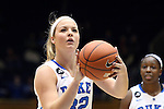 14 November 2013: Duke's Tricia Liston. The Duke University Blue Devils played the University of South Carolina Upstate Spartans at Cameron Indoor Stadium in Durham, North Carolina in a 2013-14 NCAA Division I Women's Basketball game. Duke won the game 123-40.