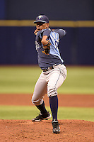 Tampa Bay Rays pitcher German Marquez during an Instructional League game against the Boston Red Sox on September 25, 2014 at Tropicana Field in St. Petersburg, Florida.  (Mike Janes/Four Seam Images)