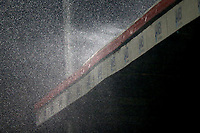 Torrential rain falls during Stevenage vs Brighton & Hove Albion Under-21, Checkatrade Trophy Football at the Lamex Stadium on 7th November 2017