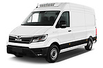 2020 Man TGE - 4 Door Refrigerated Van Angular Front automotive stock photos of front three quarter view