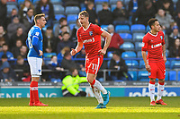 Lee Martin of Gillingham leaves the field with an injury during Portsmouth vs Gillingham, Sky Bet EFL League 1 Football at Fratton Park on 10th March 2018