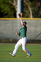 Dartmouth Big Green right fielder Kyle Holbrook (9) catches a fly ball during a game against the Northeastern Huskies on March 3, 2018 at North Charlotte Regional Park in Port Charlotte, Florida.  Northeastern defeated Dartmouth 10-8.  (Mike Janes/Four Seam Images)