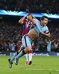 Sergio Aguero of Manchester City celebrates scoring the winning goal - UEFA Champions League group E - Manchester City vs Bayern Munich - Etihad Stadium - Manchester - England - 25rd November 2014  - Picture Simon Bellis/Sportimage
