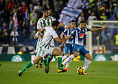 30th October 2017, Cornella-El Prat, Cornella de Llobregat, Barcelona, Spain; La Liga football, Espanyol versus Real Betis; Leo Baptistao of RCD Espanyol looks forward;