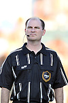 24 August 2013: Assistant Referee Jeff Muschik. The Carolina RailHawks played the Minnesota United FC Loons at WakeMed Stadium in Cary, NC in a 2013 North American Soccer League Fall Season game. Carolina won 1-0.