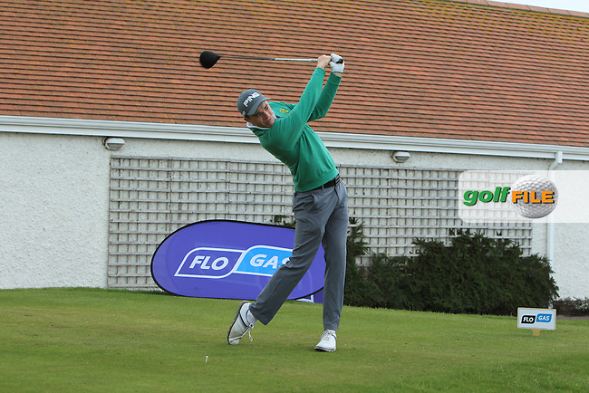 Stuart Grehan (Tullamore) on the 1st tee during the Flogas Irish Amateur Open Championship Am-Am at Royal Dublin on Monday 9th May 2016.<br /> Picture:  Thos Caffrey / www.golffile.ie
