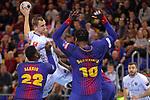 VELUX EHF 2017/18 EHF Men's Champions League Last 16.<br /> FC Barcelona Lassa vs Montpellier HB: 30-28.