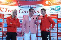 SCHAATSEN: Team Corendon, Jan Blokhuijsen, Jan van der Meulen, Koen Verweij, ©foto Martin de Jong
