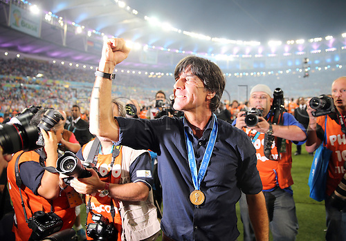 13.07.2014. Rio de Janeiro, Brazil. World Cup Final. Germany versus Argentina. Loew celebrates with fans