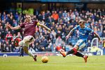 22.04.2018 Rangers v Hearts: Christophe Berra and Jason Cummings