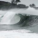 Empty wave at the shorbreak of Waimea on the Northshore of Hawaii.