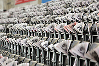 Clappers on the stadium seats before the Barclays Premier League match between Swansea City and Bournemouth at the Liberty Stadium, Swansea on November 21 2015