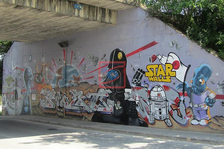 Street Art-Graffittis.<br /> Sant Quirze del Valles.