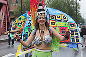 London, UK. 25 August 2014. Performers from the London School of Samba at Notting Hill Carnival 2014.
