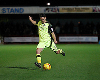 Exeter City's Craig Woodman on the ball during the Sky Bet League 2 match between Crawley Town and Exeter City at Broadfield Stadium, Crawley, England on 28 February 2017. Photo by Carlton Myrie / PRiME Media Images.