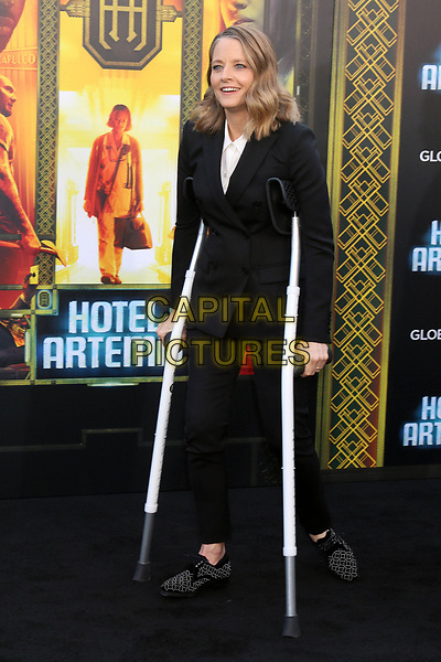WESTWOOD, CA - MAY 19: Jodie Foster at the premiere of Global Road Entertainment's 'Hotel Artemis' at Regency Village Theatre on May 19, 2018 in Westwood, California. <br /> CAP/MPI/DE<br /> &copy;DE//MPI/Capital Pictures
