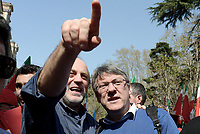 Roma, 25 Marzo 2017<br /> Maurizio Landini, Fiom.<br /> Corteo per una Europa solidale , democratica e accogliente, contro muri e frontiere per i migranti.<br /> La nostra Europa