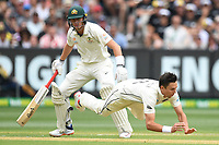 26th December 2019; Melbourne Cricket Ground, Melbourne, Victoria, Australia; International Test Cricket, Australia versus New Zealand, Test 2, Day 1; Trent Boult of New Zealand fields the ball - Editorial Use