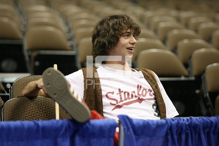 20 March 2006: Tommy Leep is forced to remove his Stanford Tree outfit during Stanford's 88-70 win over Florida State in the second round of the NCAA Women's Basketball championships at the Pepsi Center in Denver, CO. Leep sat with the band but was eventually moved to regular seating.