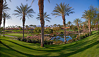 Stock panoramic photo of golf course in La Quinta, California