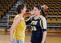 Florida International University women's volleyball player Sabrina Gonzalez (12) was honored on senior night after the game against Florida Gulf Coast University.  FIU won the match 3-0 on November 8, 2011 at Miami, Florida. .