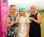 16-07-2015: Tina and Kelly Gallivan and Kerri McCarthy at the Ross Hotel Lane Bar Cocktail and Champagne Bar  at Killarney Races ladies day on Thursday.  Picture: Eamonn Keogh (macmonagle.com)   NO REPRO FREE PR PHOTO