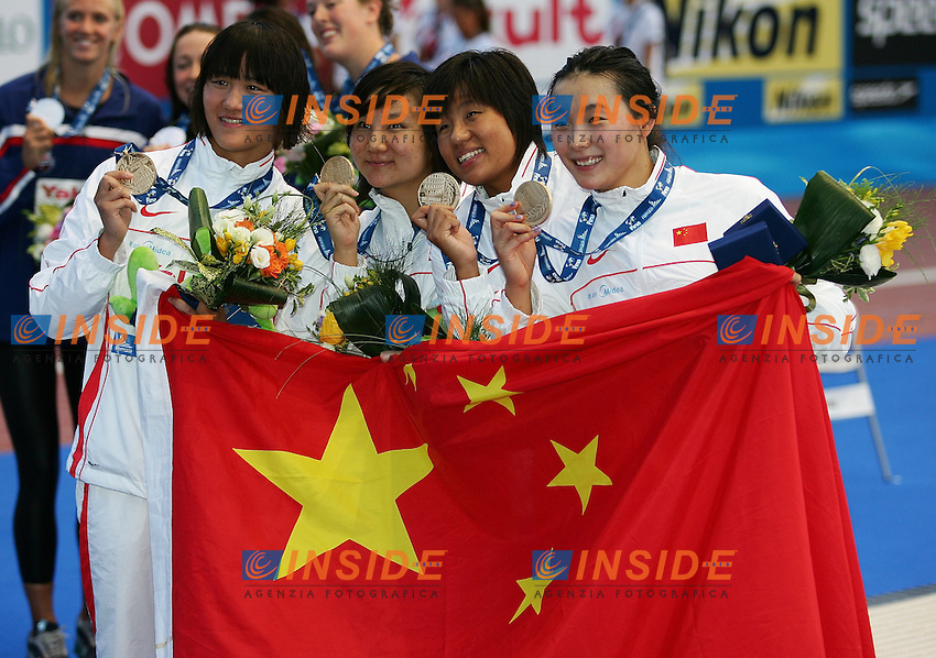 Roma 30th July 2009 - 13th Fina World Championships .From 17th to 2nd August 2009.Women's 4x200 Freestyle.CHINA GOLD MEDAL.photo: Roma2009.com/InsideFoto/SeaSee.com