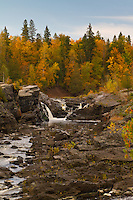 Fall Colors on the St. Louis River in Jay Cooke State Park Minnesota.