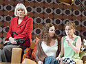 All About My Mother,based on the film by Pedro Almodovar ,a new play by Samuel Adamson. Directed by Tom Cairns.With Diana Rigg as Huma Rojo ,Joanne Froggart as Sister Rosa,Lesley Manville as Manuela. Opening at The Old Vic Theatre on 4/9/2007 . CREDIT Geraint Lewis