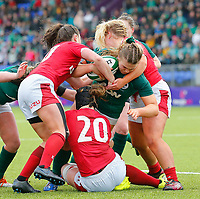 9th February 2020; Energia Park, Dublin, Leinster, Ireland; International Womens Rugby, Six Nations, Ireland versus Wales; Dorothy Wall of Ireland tries to muscle her way through the defence