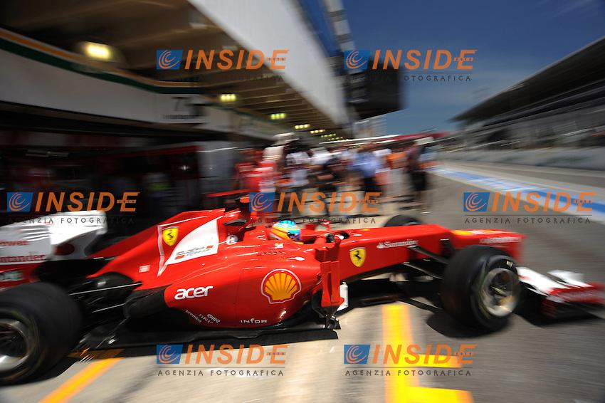Il pilota della Ferrari Fernado Alonso .San Paolo del Brasile 23/11/2012 .Formula 1 GP Brasile.Foto BERNARD ASSET / PANORAMIC / Insidefoto.ITALY ONLY