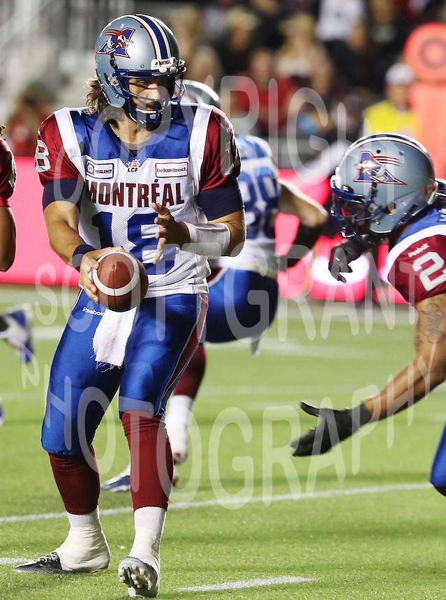 Jonathan Crompton Montreal Alouettes 2014. Photo Scott Grant