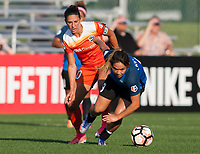Kansas City, MO - Sunday July 02, 2017:  Lo'eau Labonta chases down a ball in front of Carli Lloyd during a regular season National Women's Soccer League (NWSL) match between FC Kansas City and the Houston Dash at Children's Mercy Victory Field.