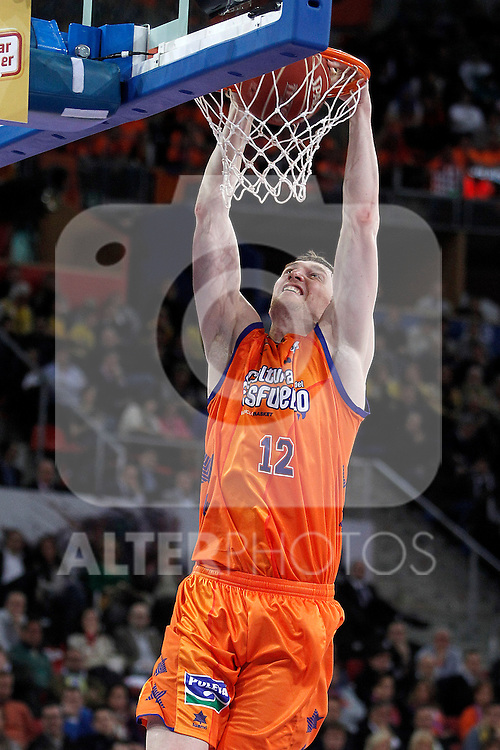 Valencia Basket Club's Serhiy Lishchuk during Spanish Basketball King's Cup match.February 07,2013. (ALTERPHOTOS/Acero)