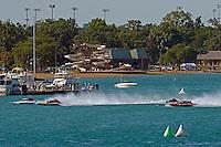 "Ken Brodie II, GP-50 ""Intensity"", Eric Langevin, GP-12 ""Long Shot"", Bert Henderson, GP-777 ""EMS Steeler"" and Jimmy King, GP-10 ""The Charger"" (Grand Prix Hydroplane(s)"