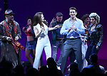 Eric Anderson, Samantah Barks, Andy Karl and Orfeh during the Curtain Call for the Garry Marshall Tribute Performance of 'Pretty Woman:The Musical' at the Nederlander Theatre on August 2, 2018 in New York City.