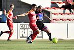 2018-08-11 / Voetbal / Seizoen 2018-2019 / Beker van Belgi&euml; / R. Cappellen FC - Bilzerse Waltwilder / Tiago Faria Da Silva (l. Cappellen) met Ismael El Ghoulbzouri<br /> <br /> ,Foto: Mpics