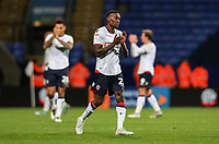 Bolton Wanderers' Lloyd Dyer applauds the home fans at the end of the match<br /> <br /> Photographer Andrew Kearns/CameraSport<br /> <br /> The EFL Sky Bet Championship - Bolton Wanderers v Blackburn Rovers - Saturday 6th October 2018 - University of Bolton Stadium - Bolton<br /> <br /> World Copyright © 2018 CameraSport. All rights reserved. 43 Linden Ave. Countesthorpe. Leicester. England. LE8 5PG - Tel: +44 (0) 116 277 4147 - admin@camerasport.com - www.camerasport.com