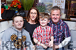 Paddy Lynch from Listowel, celebrating his 6th birthday in Benners Hotel on Saturday.<br /> Seated l to r:  Amy, Myra, Paddy and Brendan Lynch.