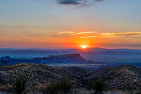 Sunset Landscape in Big Bend - Another colorful capture of the sunset landscape over the Santa Elena Canyon from the Sotal Vista Overlook in Big Bend National Park in west Texas.