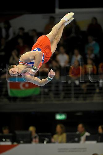 07.04.2011 European Championships Artistic Gymnastics from Berlin.Mens Qualifications.Kristian Thomas of GB