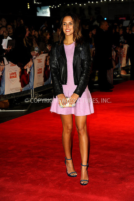 WWW.ACEPIXS.COM<br /> <br /> US SALES ONLY<br /> <br /> October 6, 2014, London, England<br />  <br /> Lucy Watson arriving at the World Premiere of 'Love, Rosie' held at Odeon West End on October 6, 2014 in London, England.<br /> <br /> By Line: Famous/ACE Pictures<br /> <br /> ACE Pictures, Inc<br /> Tel: 646 769 0430<br /> Email: info@acepixs.com